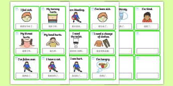 EAL Emergencies Editable Cards with English Mandarin Chinese Translation - mandarin chinese, EAL, emergencies, editable, cards, editable cards, EAL cards, english, themed cards, cards with english