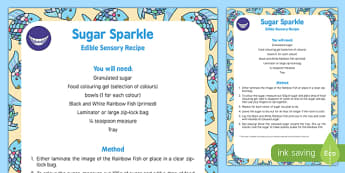 Sugar Sparkle Edible Sensory Recipe