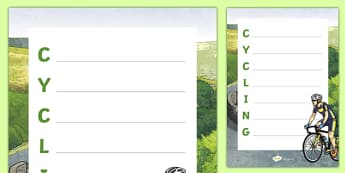 Cycling Acrostic Poem
