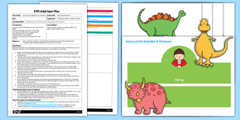 EYFS How Many Dinosaurs? Adult Input Plan and Resource Pack to Support Teaching on Harry and the Bucketful of Dinosaurs