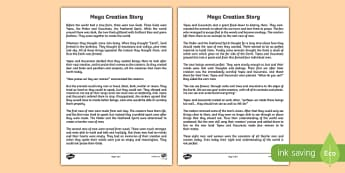 Mayan Civilization Creation Story Print Out - ancient maya, mayan