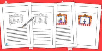 Punch and Judy Story Writing Frames - writing, frames, story