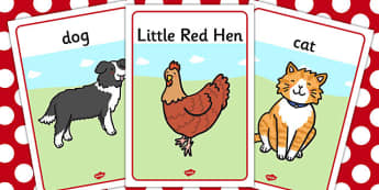 The Little Red Hen Display Posters - display posters, red hen