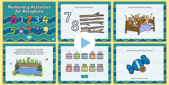 Reception Numeracy Activities PowerPoint - Back to school resources, Reception, Numeracy, Wales