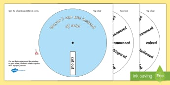 Words I Can Use Instead Of 'Said' Wheels - Words I can Use instead of said, wheels, words, instead of, said, don't say, alternative, alternatives, Phoncs, Digraph, word wheel, DfES Letters and Sounds, Letters and Sounds, words, different