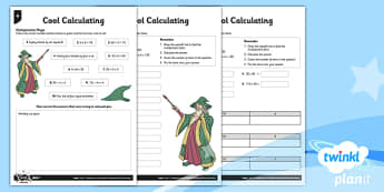 PlanIt Y3 Multiplication and Division Mental and Written Cool Calculating Home Learning Tasks - homework, calculation, arithmetic, written methods, differentiated activity