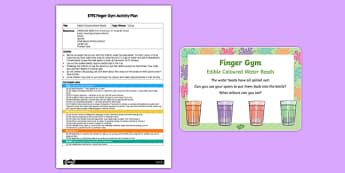 EYFS Edible Coloured Water Beads Finger Gym Plan and Prompt Card Pack