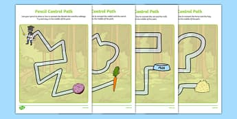 Bandit Rat Themed Pencil Control Path Activity Sheet Pack - highway rat, bandit rat, julia donaldson, pencil control path, worksheet