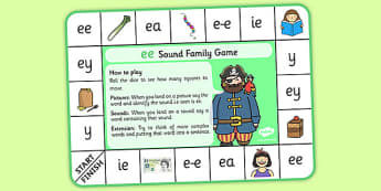 ee Sound Family Game - ee sound, ee, sound, sound family, game, activity