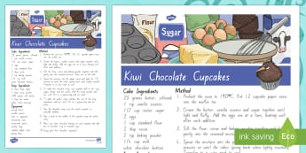 Treaty treats Kiwi chocolate cupcakes Recipe - Waitangi Day, Treaty of Waitangi, tiriti o waitangi, kiwi, kiwiana, recipes