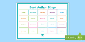 Book Author Bingo A3 Display Poster - English, reading, authors, Australia