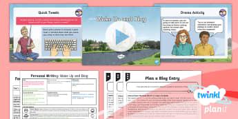 PlanIt Y6 Explorers: Dreams and Anders Arnfield Lesson Pack Personal Writing (2) - Explorers: Dreams & Anders Arnfield, social media, tweet, blog, plan, dreams, personal writing, The
