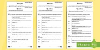 KS2 Palm Sunday Play Script Differentiated Comprehension Go Respond  Activity Sheets - KS2 Easter 2017 (16th April), Palm Sunday, reading comprehension, comprehension, Go Respond, Twinkl