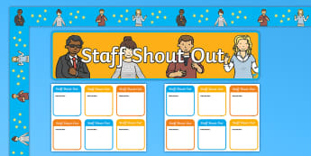 Twinkl Kindness Week Staff Shout Out Board Display Pack - Twinkl Kindness Week, kindness week, twinkl kindness week, kind resources, sraff well-being, staff s