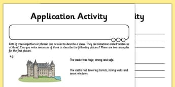 Using Commas to Separate Items in a List Application Activity - GPS, Grammar, Lists, Commas