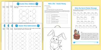 Year 2 Easter Themed Maths Resource Pack - Australia Easter Maths, easter, australia, mathematics, subtraction, addition, number, arithmetic, g
