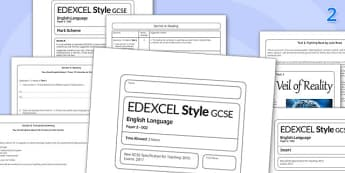 GCSE English Language Exam Paper 2 EDEXCEL - gcse, exam, english, language