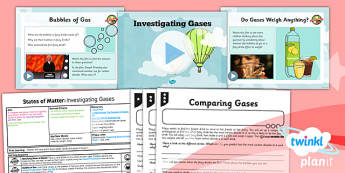 PlanIt - Science Year 4 - States of Matter Lesson 2: Investigating Gases Lesson Pack