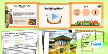 PlanIt - Art UKS2 - North American Art Lesson 4: Building Block Houses Lesson Pack