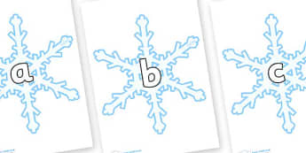 Phase 2 Phonemes on Snowflakes (New) - Phonemes, phoneme, Phase 2, Phase two, Foundation, Literacy, Letters and Sounds, DfES, display