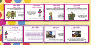 Themed KS2 Challenge Posters to Support Teaching on Matilda - roald dahl, challenges