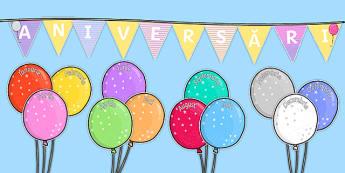 Aniversări pe baloane - Planșe aniversare
