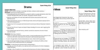 1916 Rising Drama Pack - Easter 1916 Rising, irish history, teacher material, drama script, news broadcast