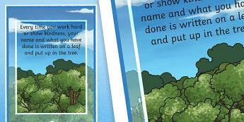 Achievement Tree Motivational Poster - achievement, tree, poster