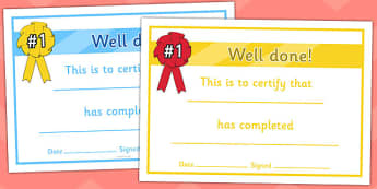 General Certificates - certificates, award, well done, reward, medal, rewards, school, general, certificate, achievement