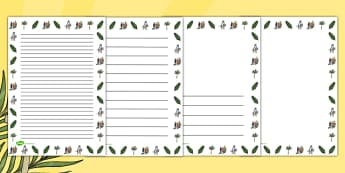 Palm Sunday Portrait Page Borders - border, Easter, religion
