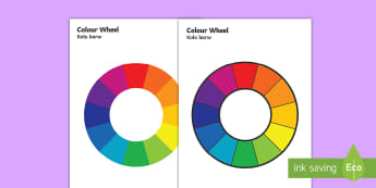 Colour Wheel English/Polish - Colour Wheel - colour, colour wheel , spectrum, primary colour, secondary colour, chart, complimenta