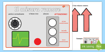 Il misura rumore Attività - il, misuratore, del, rumore, chiacchiere, parlare, piano, attenzione, comportamento, in, calsse, ita