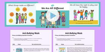 KS1 Anti-Bullying Assembly Resource Pack - bully, bullying, anti bullying, kind, friends, relationship, getting on, pshe