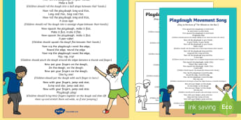 Playdough Movement Song - Playdough Play, dough disco, finger gym, fine motor skills, physical development.