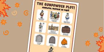 The Gunpowder Plot Vocabulary Poster Romanian Translation - romanian
