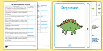 EYFS Dinosaurs Discovery Sack Plan and Resource Pack - dinosaurs, discovery sack, discovery