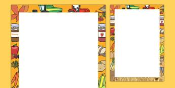 Harvest Writing Frames - autumn, seasons, harvest, writing aid