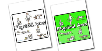 Physical Area Sign - sign, display sign, area display sign, area sign, area, classroom areas, school areas, classroom area signs, topic signs, topic area signs