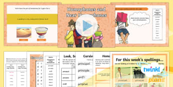 PlanIt Y5 Term 2A W6: Homophones and Near Homophones Spelling Pack - Spellings Year 5, Y5, spelling, SPaG, GPS, lists, weeks, test, homophones, statutory