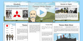 Scottish Significant Individuals Thomas Blake Glover Resource Pack - CfE, Scottish Significant Individuals, famous Scots, Mitsubishi, Japan, people in past societies, hi