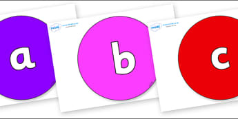 Phoneme Set on Circles - Phoneme set, phonemes, phoneme, Letters and Sounds, DfES, display, Phase 1, Phase 2, Phase 3, Phase 5, Foundation, Literacy