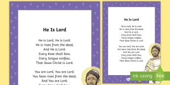 He Is Lord Song - Lent, Easter, hymn, He Is Lord, Resurrection ,,Irish, Festivals and Celebrations