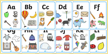 Large Alphabet Display Posters - Alphabet freize, display, poster, Initial sound posters, Sound picture cards, Phonics,  DfES Letters and Sounds