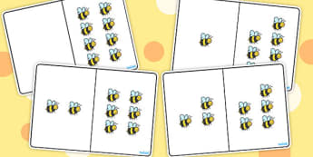 Bee Counting Number Bonds to 8 - numbers, numeracy, maths, count