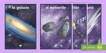 Space Display Posters Detailed Images Spanish - Spanish, KS2, planets, solar, system, display, posters