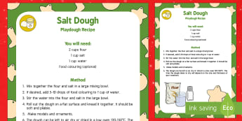 Basic Salt Dough Playdough Recipe