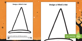Witch's Hat Drawing Activity