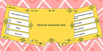 Electrical Conductors PowerPoint Quiz - electrical, powerpoint