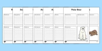 Polar Animals Factfile Activity Sheets - polar, animal, arctic, winter
