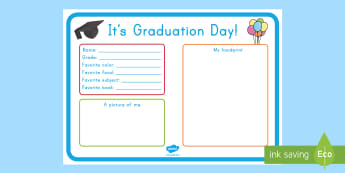 End of School Year It's Graduation Day Certificate - End of school year, end of year, end of school, graduation, Pre-K graduation, Pre-K end of year, Kin